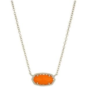 Orange Kendra Scott Pendant Necklace